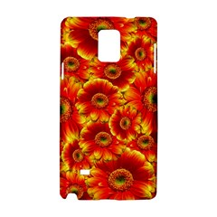 Gerbera Flowers Nature Plant Samsung Galaxy Note 4 Hardshell Case by Nexatart