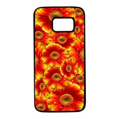 Gerbera Flowers Nature Plant Samsung Galaxy S7 Black Seamless Case