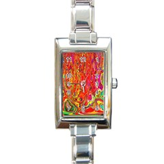 Background Texture Colorful Rectangle Italian Charm Watch by Nexatart