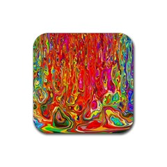 Background Texture Colorful Rubber Coaster (square)
