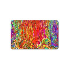 Background Texture Colorful Magnet (name Card) by Nexatart