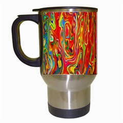 Background Texture Colorful Travel Mugs (white)
