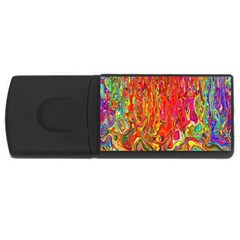 Background Texture Colorful Usb Flash Drive Rectangular (4 Gb)