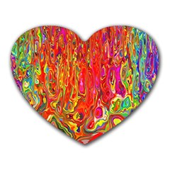Background Texture Colorful Heart Mousepads by Nexatart