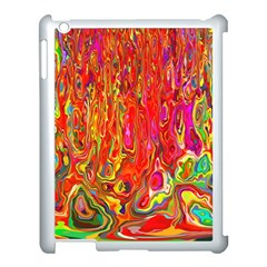 Background Texture Colorful Apple Ipad 3/4 Case (white) by Nexatart