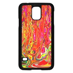 Background Texture Colorful Samsung Galaxy S5 Case (black) by Nexatart