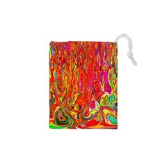 Background Texture Colorful Drawstring Pouches (xs)  by Nexatart
