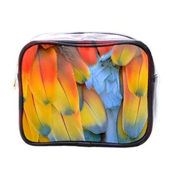 Spring Parrot Parrot Feathers Ara Mini Toiletries Bags by Nexatart