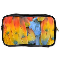 Spring Parrot Parrot Feathers Ara Toiletries Bags 2 Side