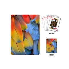 Spring Parrot Parrot Feathers Ara Playing Cards (mini)
