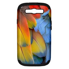 Spring Parrot Parrot Feathers Ara Samsung Galaxy S Iii Hardshell Case (pc+silicone) by Nexatart