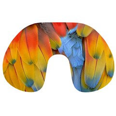 Spring Parrot Parrot Feathers Ara Travel Neck Pillows