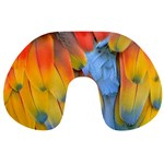 Spring Parrot Parrot Feathers Ara Travel Neck Pillows Back