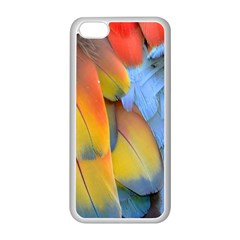 Spring Parrot Parrot Feathers Ara Apple Iphone 5c Seamless Case (white) by Nexatart