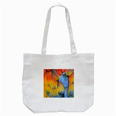 Spring Parrot Parrot Feathers Ara Tote Bag (white) by Nexatart
