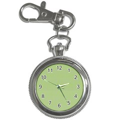 Gingham Check Plaid Fabric Pattern Key Chain Watches by Nexatart