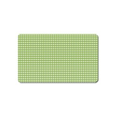 Gingham Check Plaid Fabric Pattern Magnet (name Card) by Nexatart