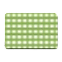 Gingham Check Plaid Fabric Pattern Small Doormat  by Nexatart