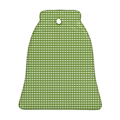 Gingham Check Plaid Fabric Pattern Ornament (bell) by Nexatart