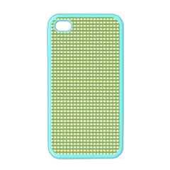 Gingham Check Plaid Fabric Pattern Apple Iphone 4 Case (color) by Nexatart