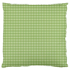 Gingham Check Plaid Fabric Pattern Large Cushion Case (two Sides)