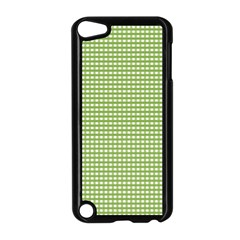 Gingham Check Plaid Fabric Pattern Apple Ipod Touch 5 Case (black)