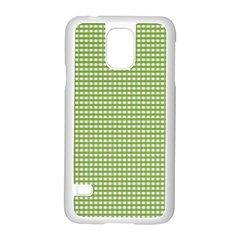 Gingham Check Plaid Fabric Pattern Samsung Galaxy S5 Case (white) by Nexatart