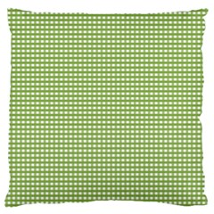 Gingham Check Plaid Fabric Pattern Large Flano Cushion Case (two Sides) by Nexatart
