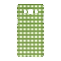 Gingham Check Plaid Fabric Pattern Samsung Galaxy A5 Hardshell Case