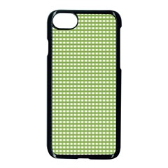 Gingham Check Plaid Fabric Pattern Apple Iphone 7 Seamless Case (black) by Nexatart