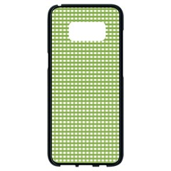 Gingham Check Plaid Fabric Pattern Samsung Galaxy S8 Black Seamless Case by Nexatart