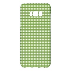 Gingham Check Plaid Fabric Pattern Samsung Galaxy S8 Plus Hardshell Case  by Nexatart