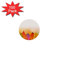 Autumn Leaves Colorful Fall Foliage 1  Mini Buttons (100 Pack)  by Nexatart