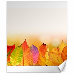 Autumn Leaves Colorful Fall Foliage Canvas 8  X 10  by Nexatart