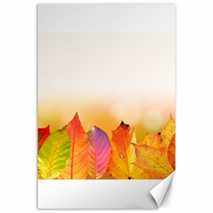 Autumn Leaves Colorful Fall Foliage Canvas 24  X 36  by Nexatart