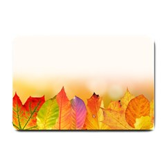 Autumn Leaves Colorful Fall Foliage Small Doormat  by Nexatart