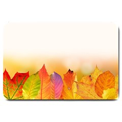 Autumn Leaves Colorful Fall Foliage Large Doormat  by Nexatart