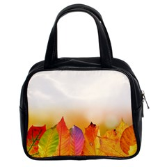 Autumn Leaves Colorful Fall Foliage Classic Handbags (2 Sides)