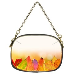 Autumn Leaves Colorful Fall Foliage Chain Purses (one Side)  by Nexatart