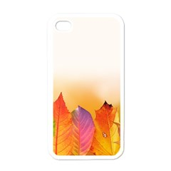 Autumn Leaves Colorful Fall Foliage Apple Iphone 4 Case (white) by Nexatart