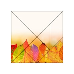 Autumn Leaves Colorful Fall Foliage Acrylic Tangram Puzzle (4  X 4 ) by Nexatart