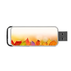 Autumn Leaves Colorful Fall Foliage Portable Usb Flash (two Sides) by Nexatart