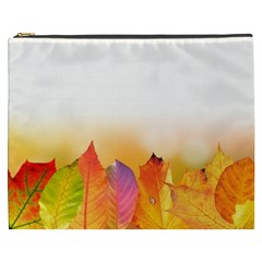 Autumn Leaves Colorful Fall Foliage Cosmetic Bag (xxxl)  by Nexatart
