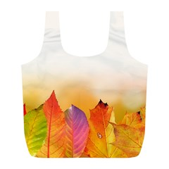 Autumn Leaves Colorful Fall Foliage Full Print Recycle Bags (l)  by Nexatart