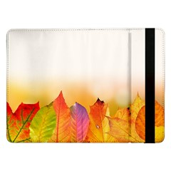 Autumn Leaves Colorful Fall Foliage Samsung Galaxy Tab Pro 12 2  Flip Case by Nexatart