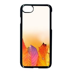 Autumn Leaves Colorful Fall Foliage Apple Iphone 7 Seamless Case (black) by Nexatart