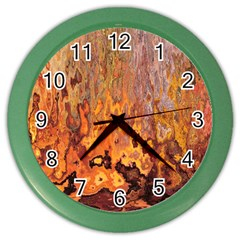 Background Texture Pattern Vintage Color Wall Clocks by Nexatart