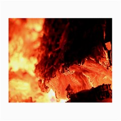 Fire Log Heat Texture Small Glasses Cloth
