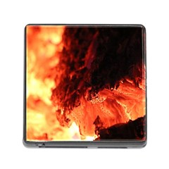 Fire Log Heat Texture Memory Card Reader (square)