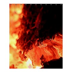 Fire Log Heat Texture Shower Curtain 60  X 72  (medium)  by Nexatart